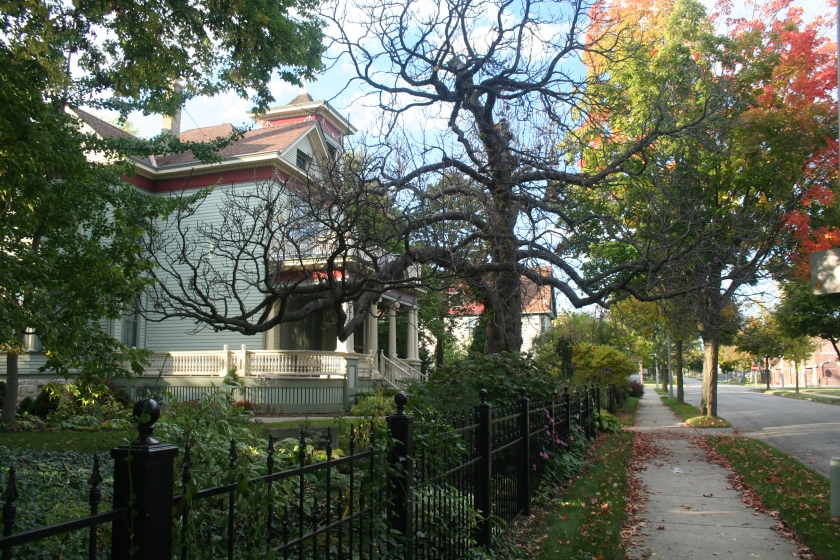 The Frederick Koenig House, seen from 32nd Street.