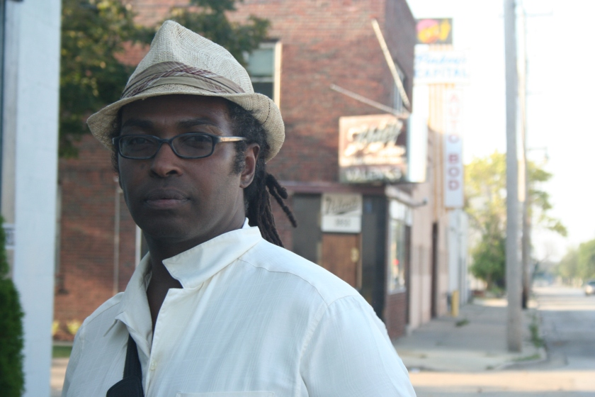 Eric Jefferson stands near the corner of North Richards Street and East Abert Place in Williamsburg Heights.