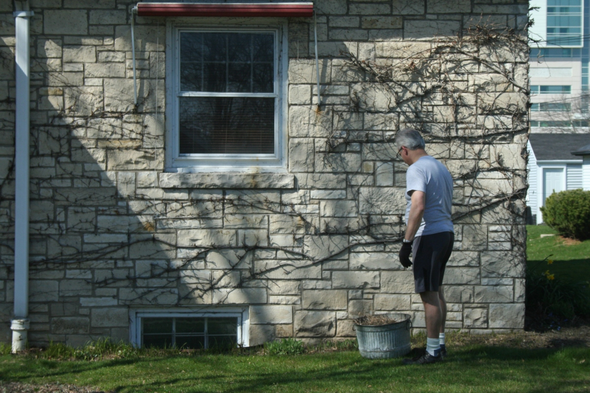 Brian stands in front of his house near Euclid and South 30th Street in Southgate.