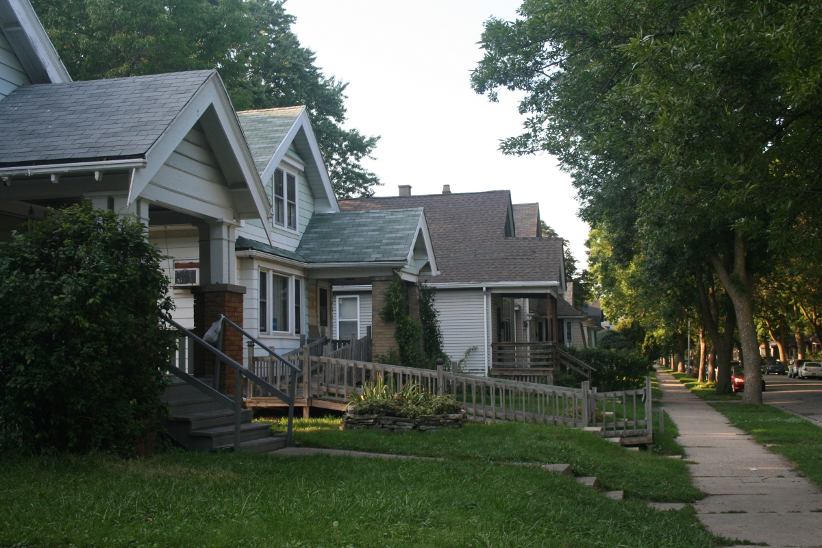 Every house but one on the 3600 block of North 5th Street has lead service lines. (Photo by Jabril Faraj)