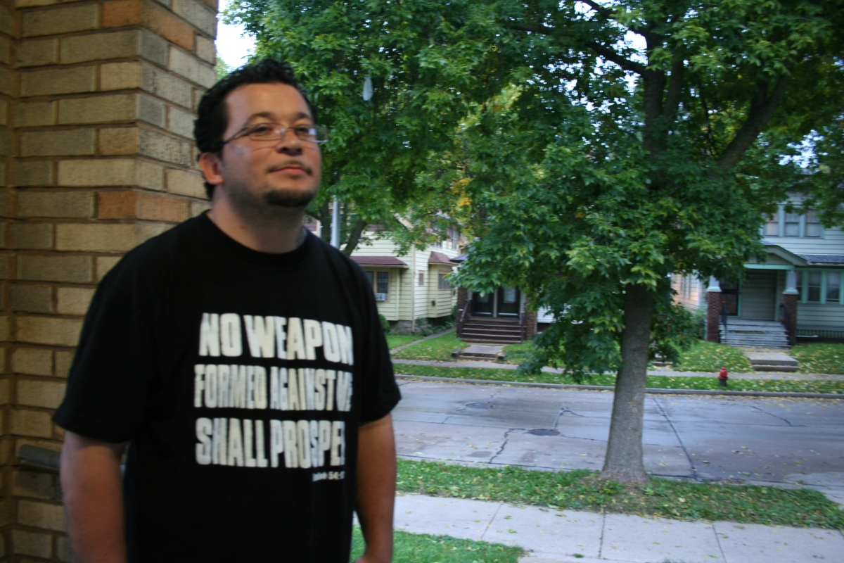 Jose Vasquez, a former gang member and current youth worker on Milwaukee's South Side. (Photo by Jabril Faraj)