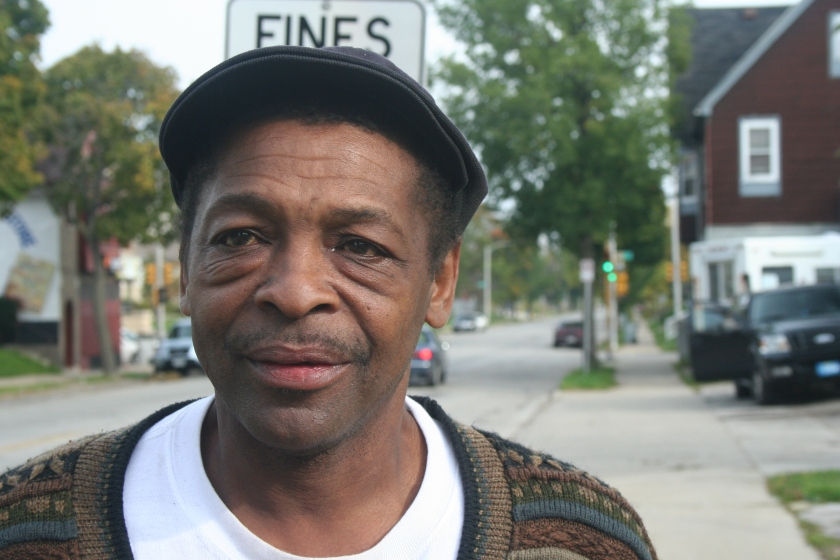 Donald Ealy stands just off of Center Street near N. 24th Pl. in Park West. (Photo by Jabril Faraj)
